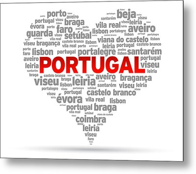 I Love Portugal Metal Print by Aged Pixel