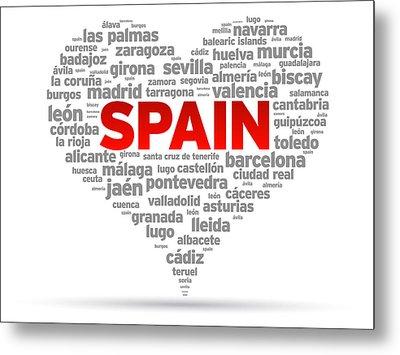 I Love Spain Metal Print by Aged Pixel