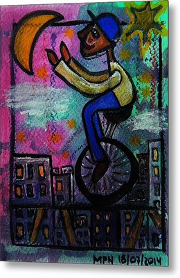 I M Reaching For The Stars And Moon  Nothing Is Impossible Metal Print by Mimulux patricia no No