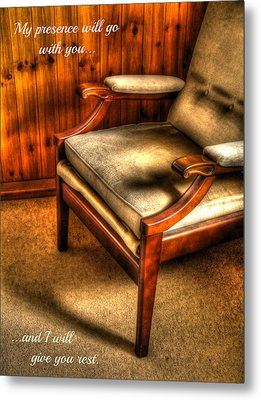 I Will Give You Rest Metal Print by Anne Macdonald