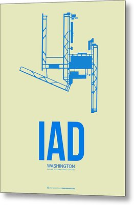 Iad Washington Airport Poster 1 Metal Print by Naxart Studio