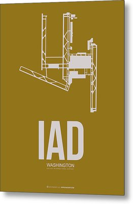 Iad Washington Airport Poster 3 Metal Print by Naxart Studio