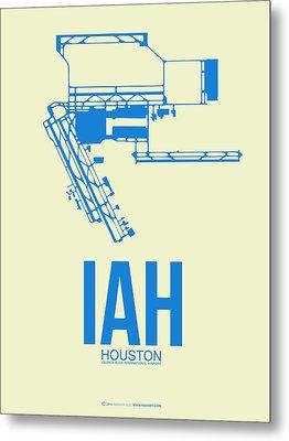 Iah Houston Airport Poster 3 Metal Print by Naxart Studio