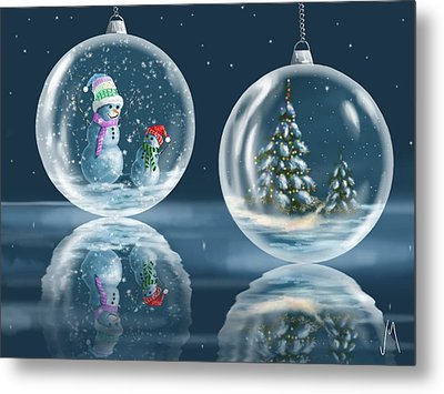 Ice Balls Metal Print by Veronica Minozzi