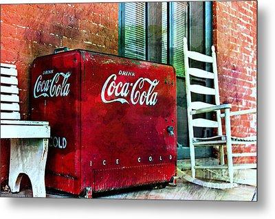 Ice Cold Coca Cola Metal Print by Benanne Stiens