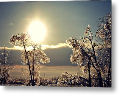 Ice Reflection Metal Print by Dawdy Imagery