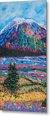 Icefields Alberta Mountain Metal Print by Joyce Sherwin