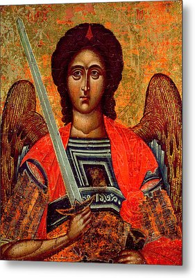 Icon Of The Angel Michael Metal Print by Greek School