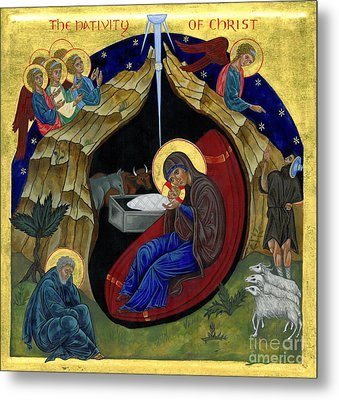 Icon Of The Nativity Metal Print by Juliet Venter