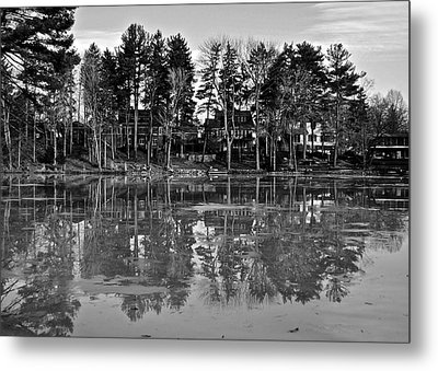 Icy Pond Reflects Metal Print by Frozen in Time Fine Art Photography