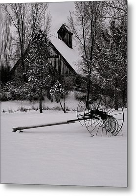 Idle Time - Waiting For Spring Metal Print by Steven Milner