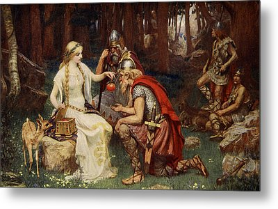Idun And The Apples, Illustration Metal Print by James Doyle Penrose