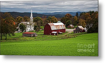 Idyllic Vermont Small Town Metal Print by Edward Fielding