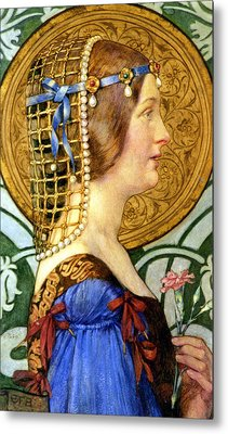 If One Could Have That Little Head Of Hers Metal Print by Eleanor Fortescue Brickdale