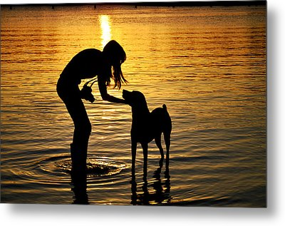 if you call I will answer Metal Print by Laura Fasulo