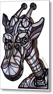 iGiraffe Metal Print by Del Gaizo
