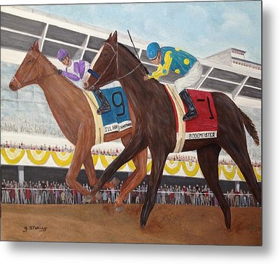 I'll Have Another Wins Preakness Metal Print by Glenn Stallings