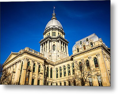 Illinois State Capitol Building In Springfield Metal Print by Paul Velgos