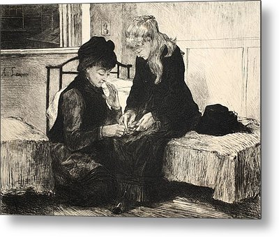 Illustration From La Rue A Londres Metal Print by Auguste Andre Lancon
