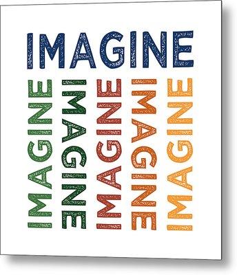 Imagine Cute Colorful Metal Print by Flo Karp