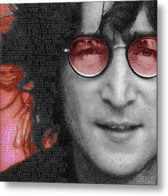 Imagine John Lennon Again Metal Print by Tony Rubino