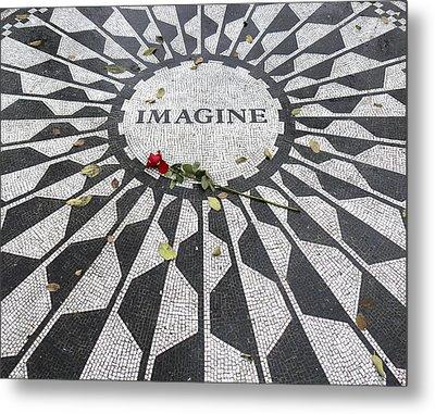 Imagine Mosaic Metal Print by Mike McGlothlen
