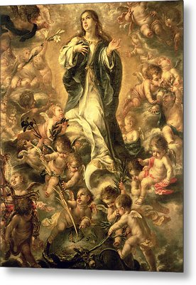 Immaculate Conception Metal Print by Juan de Valdes Leal
