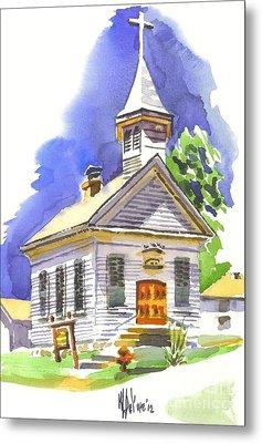 Immanuel Evangelical Lutheran Church Pilot Knob Missouri Metal Print by Kip DeVore