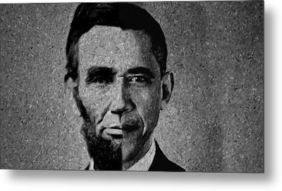 Impressionist Interpretation Of Lincoln Becoming Obama Metal Print by Doc Braham