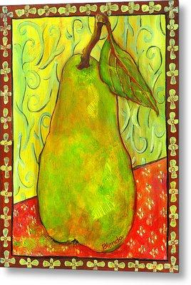 Impressionist Style Pear Metal Print by Blenda Studio