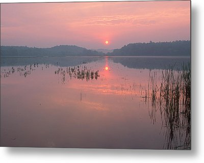 Impressionist Sunrise Great Meadows Concord Ma Metal Print by Bucko Productions Photography