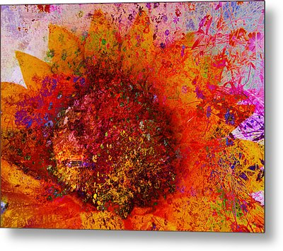 Impressionistic Colorful Flower  Metal Print by Ann Powell