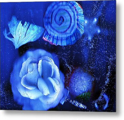 In The Blues Of The Night Metal Print by Anne-elizabeth Whiteway