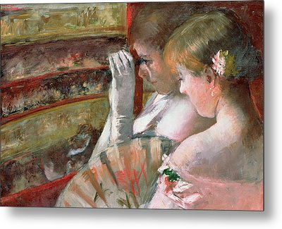 In The Box Metal Print by Mary Stevenson Cassatt