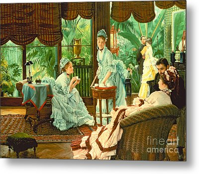 In The Conservatory  Metal Print by James Jacques Tissot