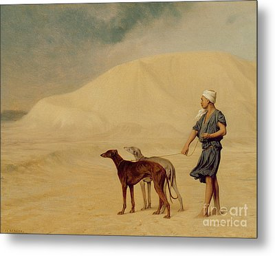 In The Desert Metal Print by Jean Leon Gerome
