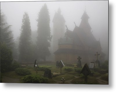 In The Fog Metal Print by Joanna Madloch