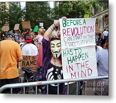 In The Mind Metal Print by Ed Weidman