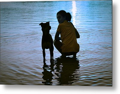 In The Moonlight Metal Print by Laura Fasulo