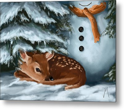 In The Snow Metal Print by Veronica Minozzi