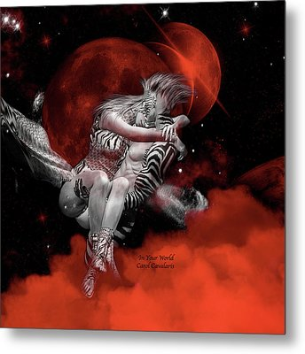 In Your World Metal Print by Carol Cavalaris