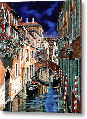 Inchiostro Su Venezia Metal Print by Guido Borelli