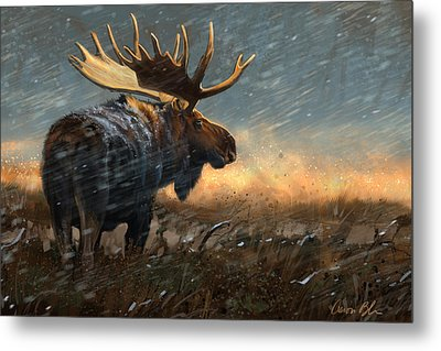 Incoming Storm Metal Print by Aaron Blaise