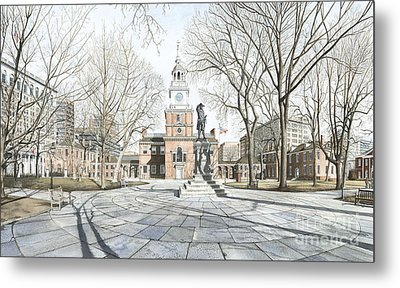 Independence Hall Metal Print by Keith Mountford