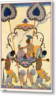 India Metal Print by Georges Barbier