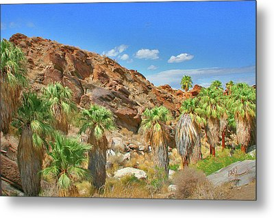 Indian Canyons View In Palm Springs Metal Print by Ben and Raisa Gertsberg