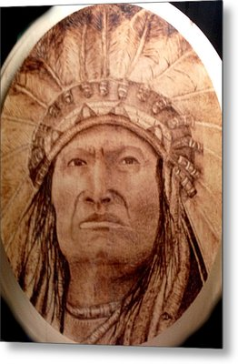 Indian Chief Metal Print by Dale Bradley