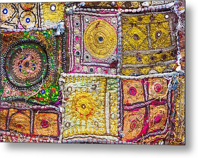 Indian Cloth Metal Print by Tom Gowanlock