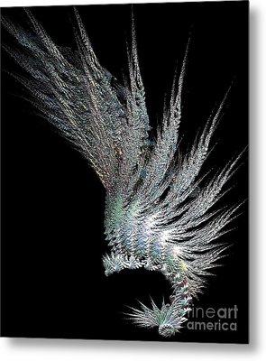 Indian Feather Head Dress Metal Print by Gail Matthews