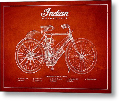 Indian Motorcycle Metal Print by Aged Pixel
